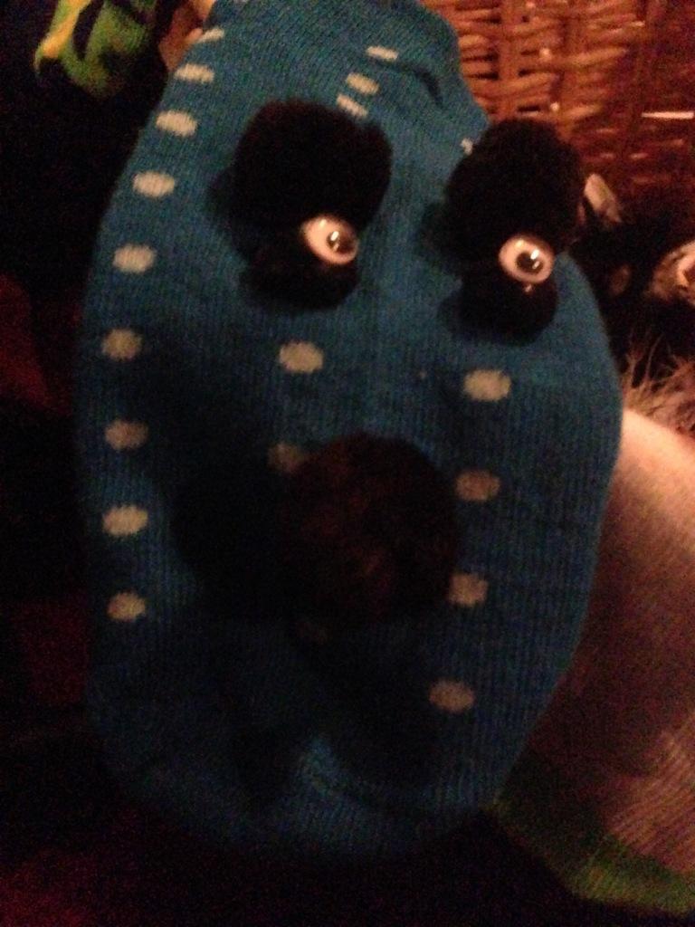 My Sock Puppet--Blue